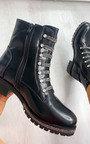 Roxanne Diamante Biker Boots Thumbnail