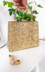 Roxanne Glitter Clutch Bag Thumbnail
