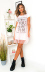 Roxanne Slogan Tulle T-Shirt Dress Thumbnail
