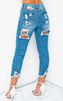 Roxi Ripped Back Pocket Crop Jeans Thumbnail