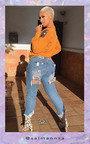 Roxi Ripped Back Pocket Crop Jeans Thumbnail