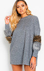 Rubie Faux Fur Embellished Jumper Dress Thumbnail