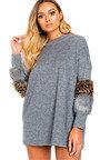 Rubie Faux Fur Embellished Jumper Dress Thumbnail