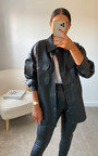 Ruby Faux Leather Shirt Jacket Thumbnail