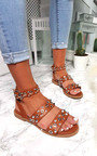 Ruby Strappy Studded Buckled Sandals Thumbnail