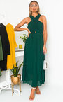 Ryanna Pleated Crossover Maxi Dress Thumbnail