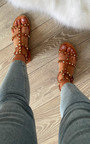 Safara Studded Strappy Sandals Thumbnail