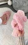 Saffron Faux Fur Sandals Thumbnail