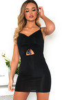 Safron Slinky Bodycon Dress Thumbnail