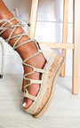 Sally Faux Suede Flatform Sandals Thumbnail