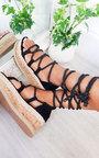 Sally Faux Suede Flatform Sandals Thumbnail