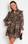 Sally Leopard Print Shift Dress Thumbnail