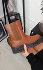 Sam Faux Leather Zip Up Ankle Boot Thumbnail