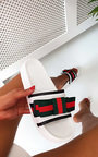 Sami Striped Bow Sliders  Thumbnail