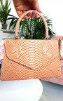 Sandy Croc Print Handbag Thumbnail