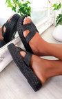 Sandy Woven Flatform Sandals Thumbnail