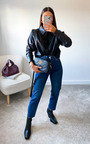 Sannah Faux Leather Shirt Thumbnail