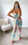 Santana Printed Oversized Jumpsuit Thumbnail