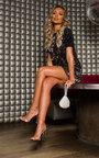 Sara Diamante Chainmail Pouch Bag Thumbnail