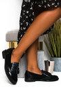 Sara Faux Leather Tassel Brogue Flats Thumbnail