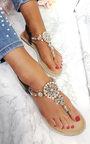 Sarris Embellished T Bar Sandals  Thumbnail