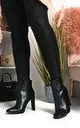 Sasha Croc Print Heeled Ankle Boots Thumbnail