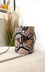 Sasha Mini Cylinder Croc Print Clutch Bag Thumbnail