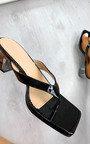 Sasha Toe Thong Mule Heels Thumbnail
