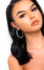Saskia Diamante Hoop Earrings  Thumbnail