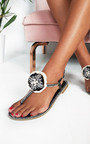 Saskia Jewelled T-Bar Sandals Thumbnail