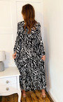 Saskia Printed Maxi Shirt Dress Thumbnail