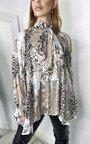 Saskia Tie Front Multi Print Blouse Thumbnail