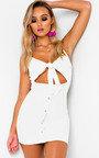 Sassy Tie Button Dress Thumbnail