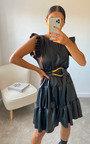 Scarlett Faux Leather Mini Dress Thumbnail