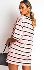 Scarlett Striped Oversized T-Shirt Dress Thumbnail
