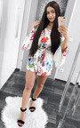 Selene Floral Off Shoulder Tie Playsuit  Thumbnail