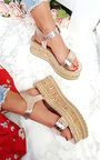 Seline Braided Studded Wedge Sandals Thumbnail