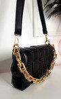 Serena Padded Shoulder Bag with Chain Detail Thumbnail
