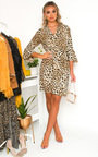 Serina Leopard Print Mini Dress Thumbnail