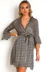 Serina Star Print Mini Dress Thumbnail