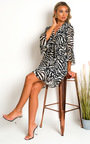 Serina Zebra Print Mini Dress Thumbnail