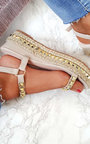 Seritta Studded Strap Wedge Sandals Thumbnail