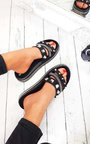 Shani Studded Chunky Strappy Sliders Thumbnail