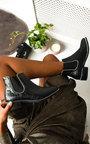 Shannon Croc Print  Ankle Boots Thumbnail