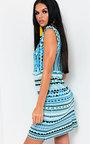 Shay Aztec Frill Dress Thumbnail