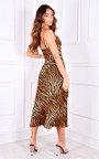 Shermanie Thigh Split Printed Midi Dress Thumbnail