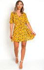 Sherri Printed Wrap Mini Dress Thumbnail
