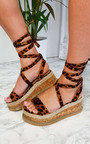 Sherry Cork Strappy Wedges Thumbnail