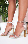 Shya Barely There Croc Print Heels Thumbnail
