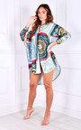 Sia Oversized Printed Shirt Dress Thumbnail
